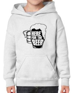 Here For The Beer Hoodie-Girls