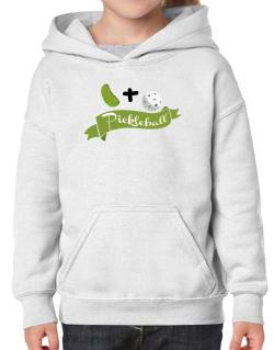 Pickle plus ball equals pickleball Hoodie-Girls