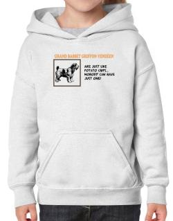 Grand Basset Griffon Vendéen are just like potato chips Hoodie-Girls