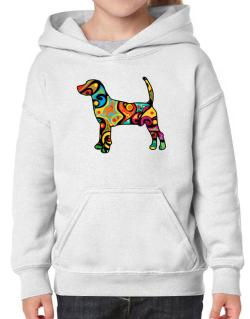 Psychedelic North Country Beagle Hoodie-Girls