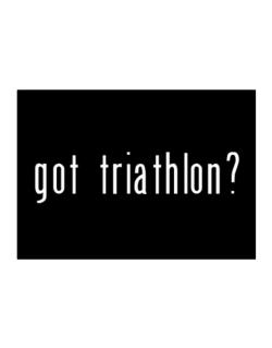 Got Triathlon? Sticker