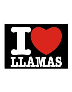 I Love Llamas Sticker