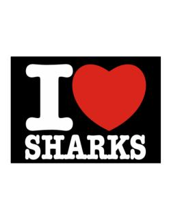 I Love Sharks Sticker