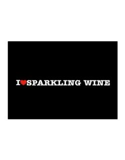 I Love Sparkling Wine Sticker