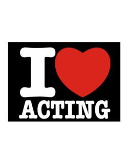 I Love Acting Sticker