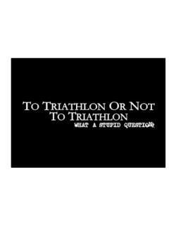 To Triathlon Or Not To Triathlon, What A Stupid Question Sticker