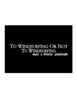 To Windsurfing Or Not To Windsurfing, What A Stupid Question Sticker