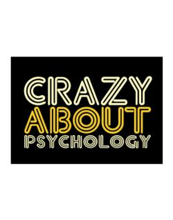 Crazy About Psychology Sticker