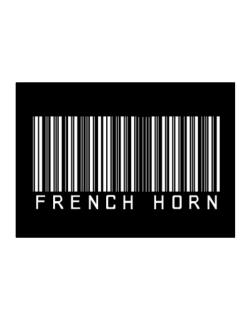 French Horn Barcode Sticker