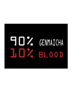 90% Genmaicha 10% Blood Sticker