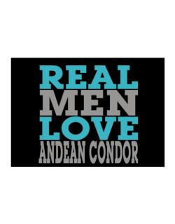 Real Men Love Andean Condor Sticker