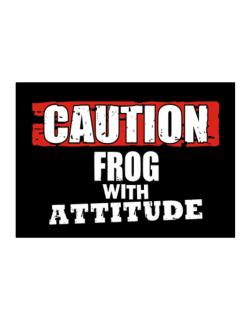 Caution - Frog With Attitude Sticker