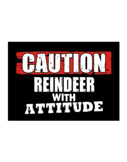 Caution - Reindeer With Attitude Sticker