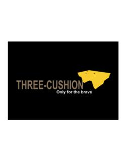 """"""" Three-Cushion - Only for the brave """" Sticker"""