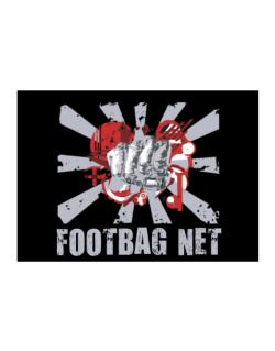 Footbag Net Fist Sticker