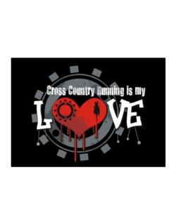 Cross Country Running Is My Love Sticker