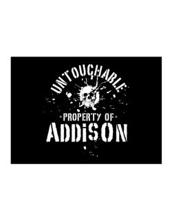 Untouchable : Property Of Addison Sticker