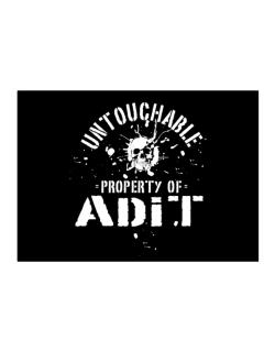 Untouchable : Property Of Adit Sticker