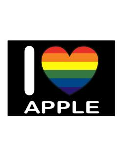 I Love Apple - Rainbow Heart Sticker