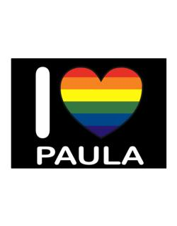 I Love Paula - Rainbow Heart Sticker