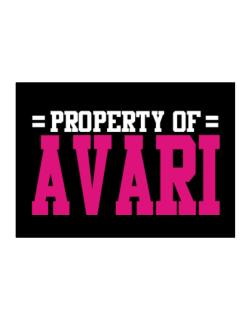 Property Of Avari Sticker