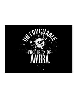 Untouchable Property Of Ambra - Skull Sticker