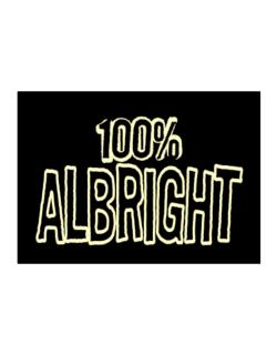 100% Albright Sticker