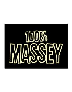 100% Massey Sticker