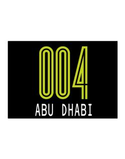 Iso Code Abu Dhabi - Retro Sticker