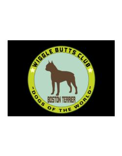 Boston Terrier - Wiggle Butts Club Sticker