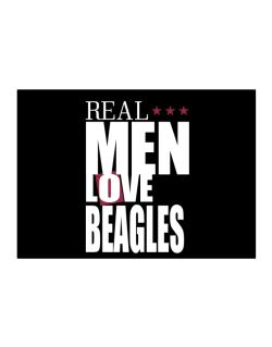 Real Men Love Beagles Sticker
