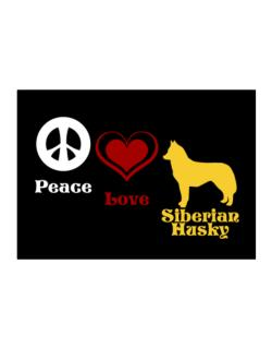 Peace, Love, Siberian Husky Sticker