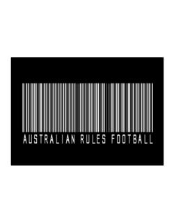 Australian Rules Football Barcode / Bar Code Sticker