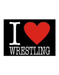 I Love Wrestling Classic Sticker