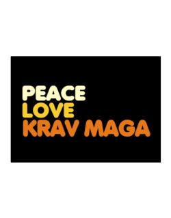 Peace , Love And Krav Maga Sticker