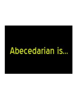 Abecedarian Is Sticker