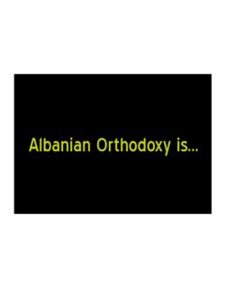 Albanian Orthodoxy Is Sticker