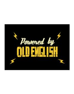 Powered By Old English Sticker