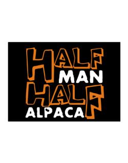 Half Man , Half Alpaca Sticker