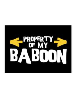 Property Of My Baboon Sticker