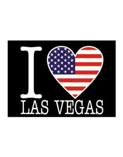 """ I love Las Vegas - American Flag "" Sticker"