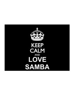 Keep calm and love Samba Sticker