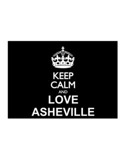 Keep calm and love Asheville Sticker