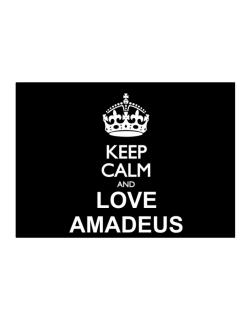 Keep calm and love Amadeus Sticker