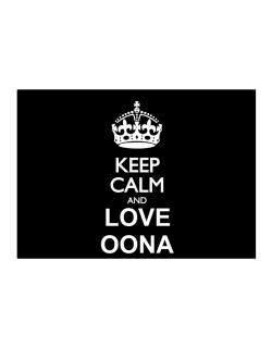 Keep calm and love Oona Sticker