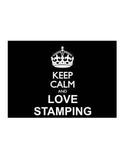 Keep calm and love Stamping Sticker