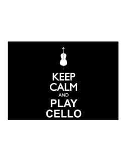 Keep calm and play Cello - silhouette Sticker
