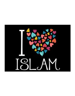 I love Islam colorful hearts Sticker