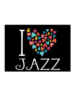 I love Jazz colorful hearts Sticker