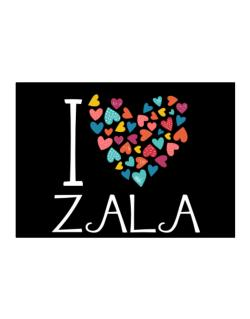 I love Zala colorful hearts Sticker